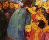 Cristo y los niños (1910) - Emil Nolde