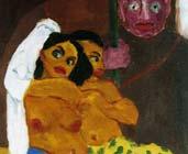 Desnudos y eunucos: El guardia del harén (1912) - Emil Nolde