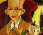 Retrato de Oskar Schlemmer (1914) - Ernst Ludwig Kirchner