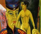 Autorretrato, soldado y puta (1915) - Ernst Ludwig Kirchner