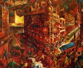 Vista sobre el gran panorama - (1916-1917) George Grosz