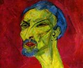 Retrato de hombre en rojo (1919-1920) Hanns Katz