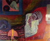Enfermo en la noche (1920) - Ernst Ludwig Kirchner